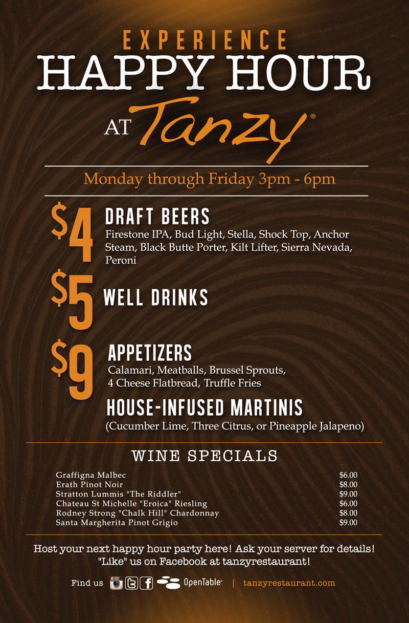 Scottsdale Tanzy Happy Hour